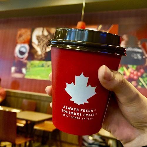カナダマークのドリンク