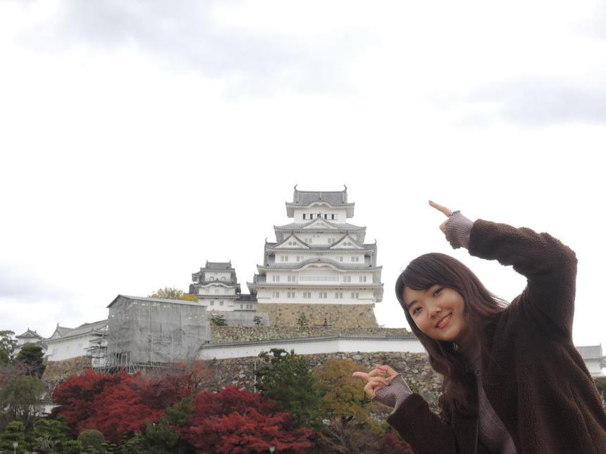 姫路城と一緒に