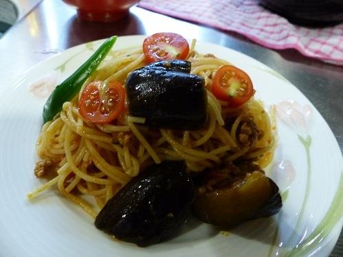 トマトとナスのスパゲッティ♪