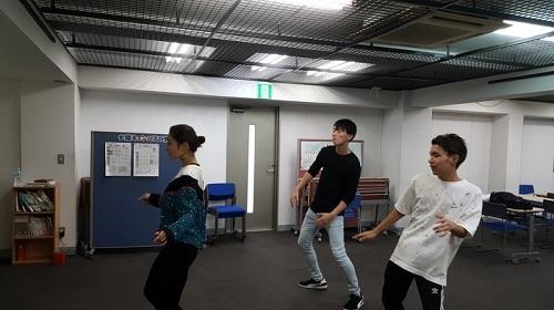 学院祭に向け、現在ダンスの猛特訓中
