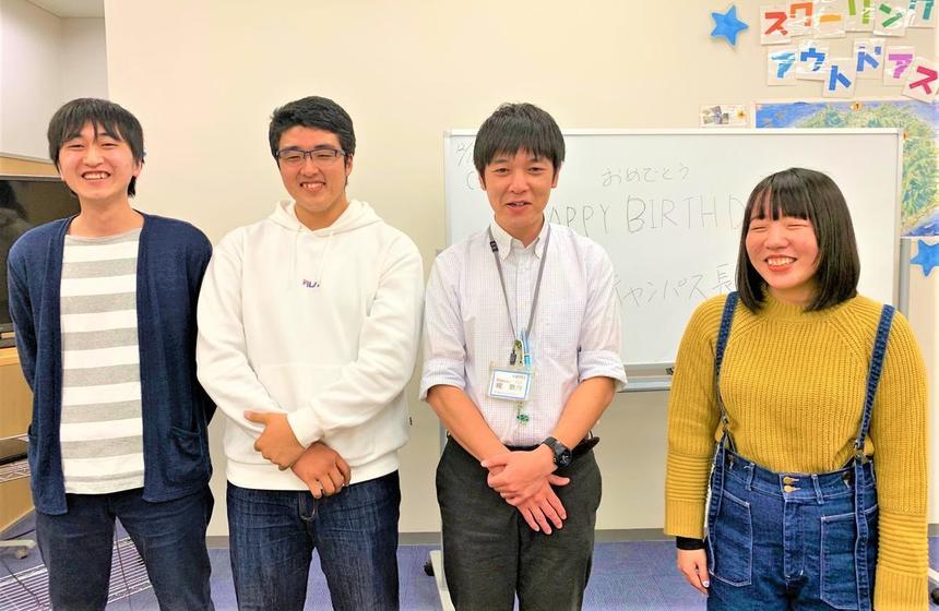 高松キャンパスの生徒とコーチ