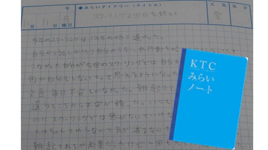 みらいノートに今の気持ちを書いてくれました☆